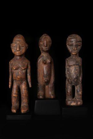 Afrikanische Kunst 3 Lobi Figuren